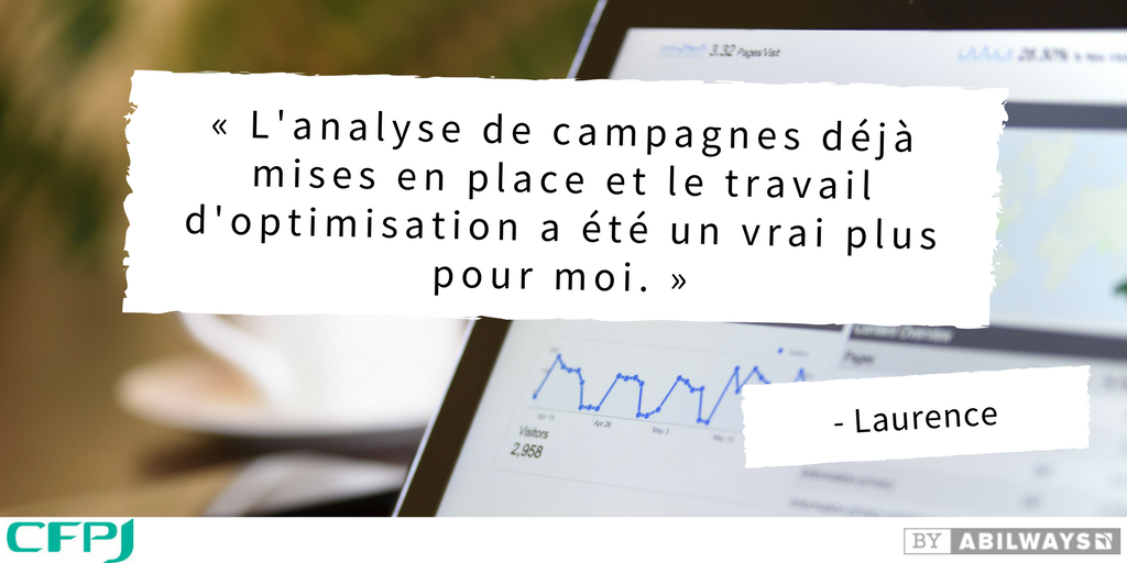 CFPJ referencement campagne google adwords