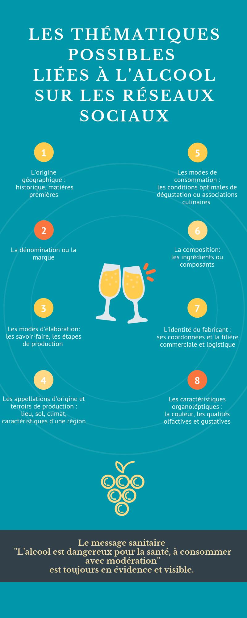infographie réseaux sociaux alcool